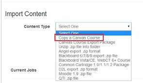 Canvas: Copy old course into a new course shell