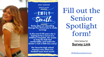 Seniors Fill Out Your Spotlight Form