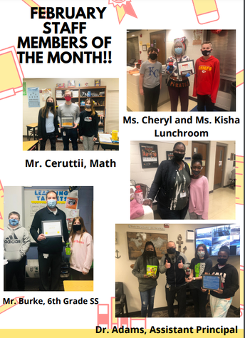 STUCO Staff Members of the Month