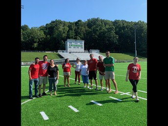Checking out the new turf!