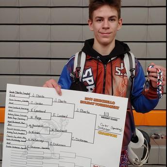Champion Carter Dickinson