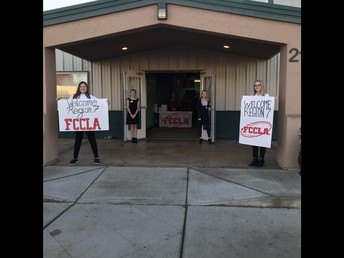 Middle School FCCLA welcome commitee