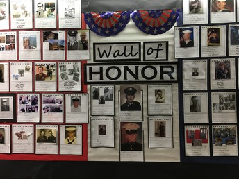 Wall of Honor at Valley View Elementary
