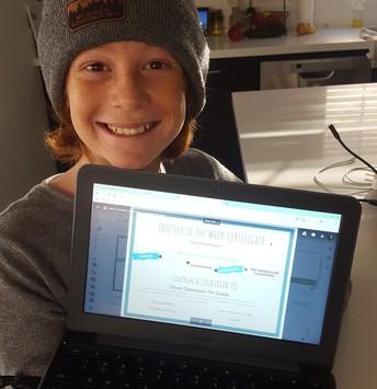 7th Grade Cub - Oliver D.