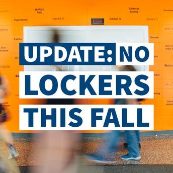 No lockers this fall
