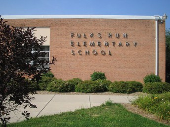 Current Fulks Run Elementary School Name on the side of the building