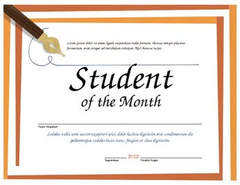 Students of the Month for the Trait of Kindness (January)
