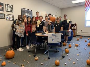 NJHS Turned Mr. Desto's Office into a Pumpkin Patch for Principal Appreciation Month
