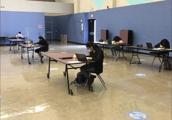 Our kids working hard on a Saturday UIL Contest!