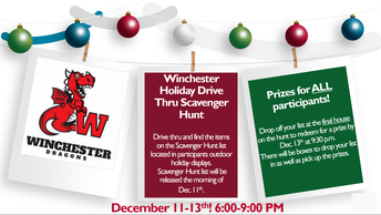 Winchester PTA Holiday Drive Thru Scavenger Hunt