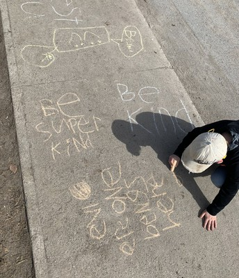 Writing Kind Messages Outside