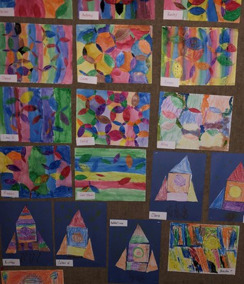 Elementary Art Display