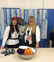 Our crafty pirates. Ms. Nichole and Ms. Robin