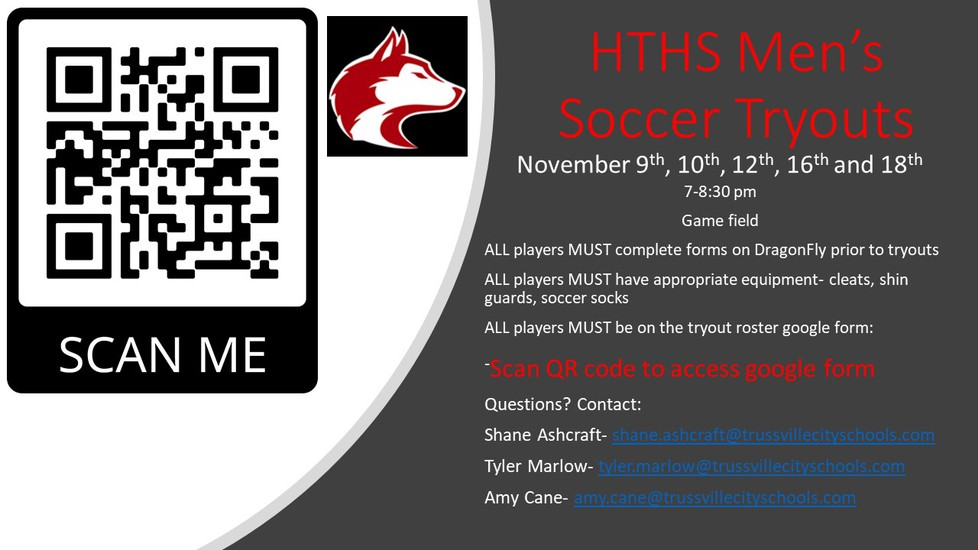 Soccer tryout information
