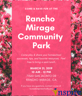 Park Day in Rancho Mirage!