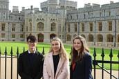 Joe, Georgina and Niamh at Windsor Castle