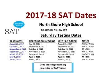 SAT Test Dates