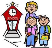School STARTS at 7:55 a.m.. / Las clases comienzan a las 7:55 a.m.