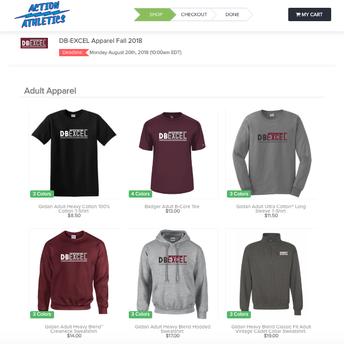DBE Online Store Orders