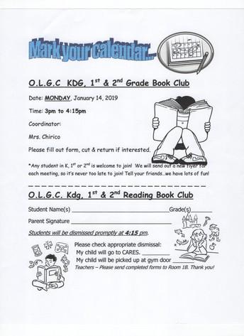 January Book Club with Mrs. Chirico
