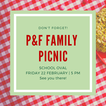 Family Picnic - Friday 22 February from 5pm