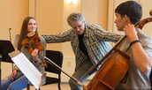 Elaine Huang learns from the Kronos Quartet