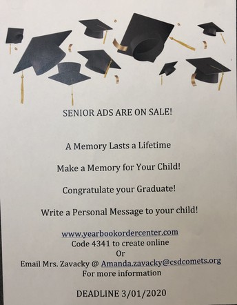 Senior Yearbook Ads are on sale!