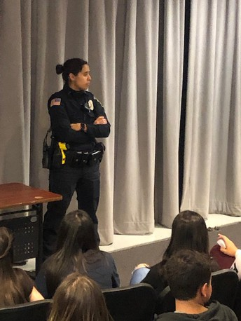 Officer Miranda Making Connections with Students
