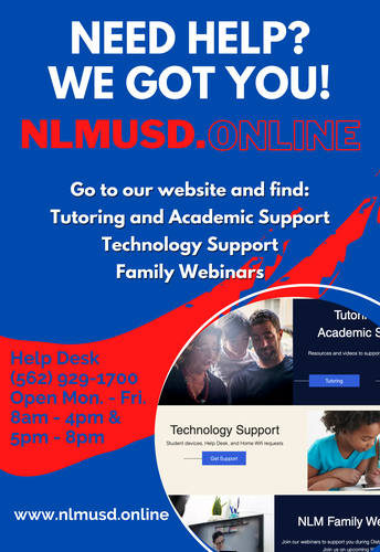 TECHNOLOGY SUPPORT FOR STUDENTS AND FAMILIES