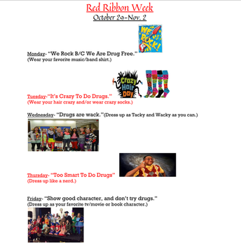Red Ribbon Week 10/29-11/2