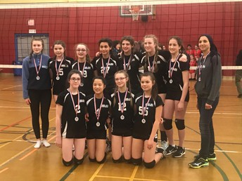Grade 8 girls' volleyball