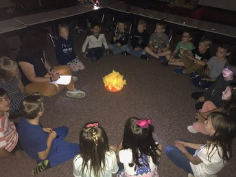 Campfire songs with Mrs. Peterson