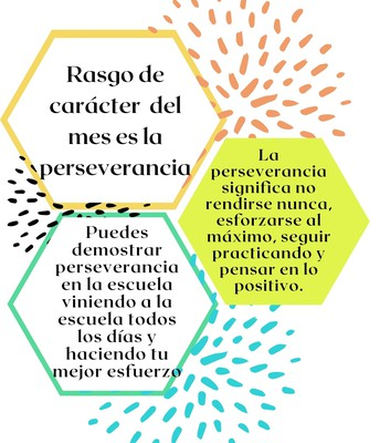 La perseverancia es el rasgo de carácter del mes