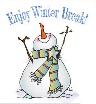 Winter Break December 21st thru January 1st