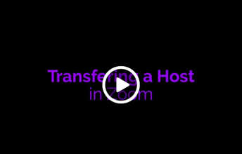 How to Transfer a Host in Zoom