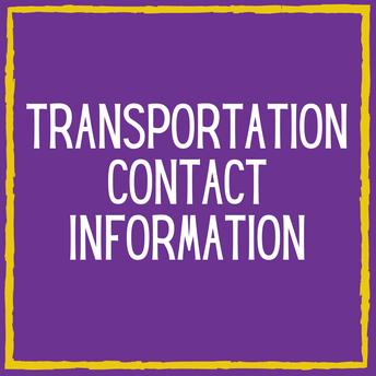 Transportation Contact Information