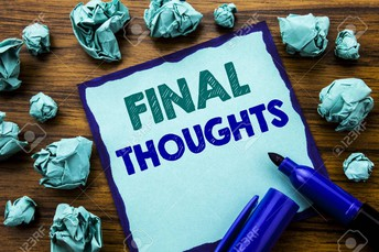 FALL FINAL THOUGHTS