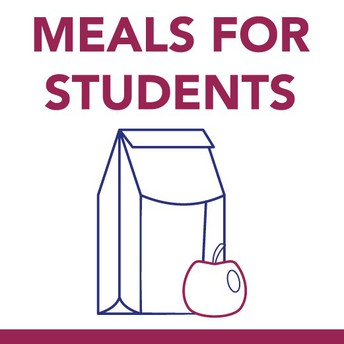 graphic stating Meals for Students
