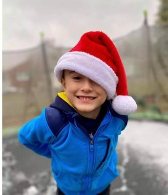 Santa on a trampoline!