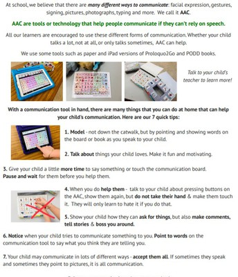 AAC Learn-at-Home Tips