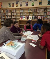 Braille Reading Expert Shares with Gra-Mar Students