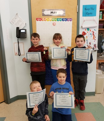 April 2019 Perfect Attendance - 3rd grade