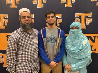Valedictorian, Musab Abdullah and proud parents