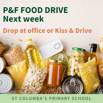 Last chance - goods for P&F Food Drive