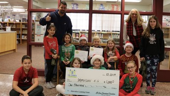 CB Cares presents a grant to Jamison Elementary