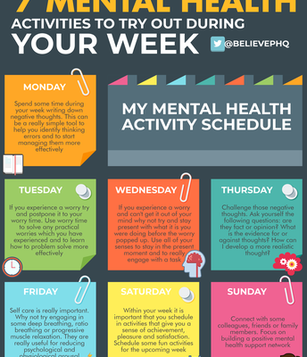 Fun Mental Health Activities for Each Day of the Week!