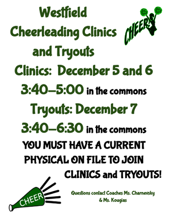 Cheerleading and Poms Tryouts