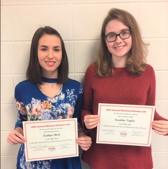 Two OHS Seniors Receive Honorable Mention for Missouri Scholars 100