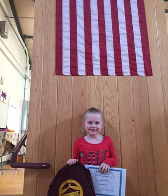 February's 1st grade Citizen of the Month