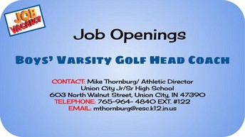 Head Golf Coach Needed